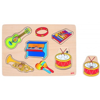 puzzle cu sunete si butoni instrumente muzicale